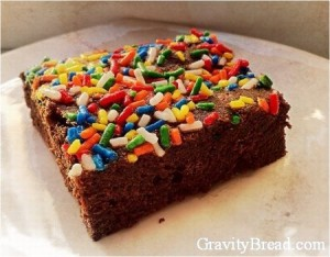 Gluten Free Sprinkle Brownie