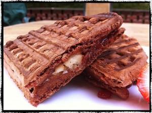 Chocolate Waffle Sandwich