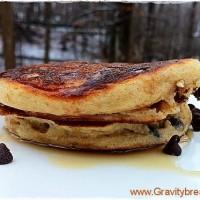 Kefir Chocolate Chip Pancakes