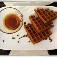 mascapone waffles cow plate