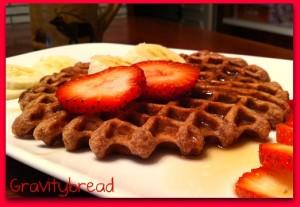 Strawberry Yogurt Waffles