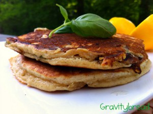 Sweet Lemon, Basil and Mascarpone Pancakes