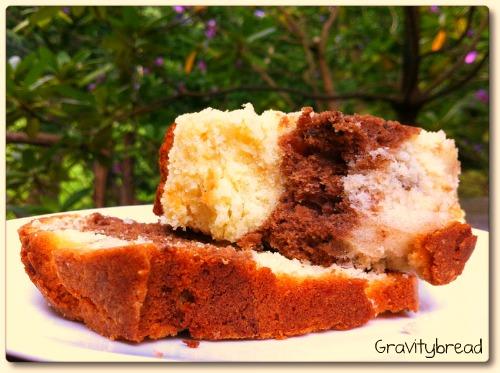 marble pound cakeoutside