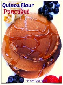 Overnight Quinoa Flour Pancakes