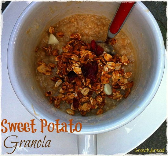 Sweet potato granola cup