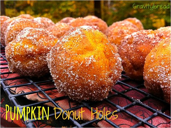 Dairy Free Pumpkin Donut Holes smaller version