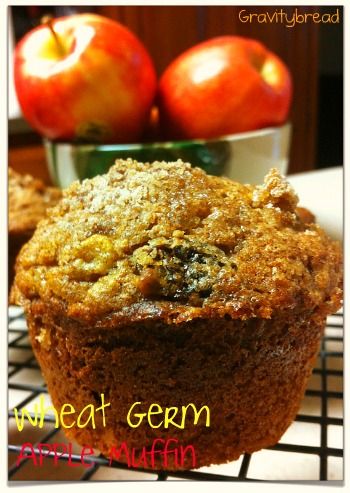 wheat germ apple muffin