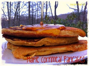 Maple Cornmeal Pancakes