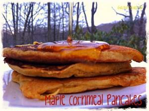 Maple Cornmeal Pancakes