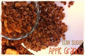 Reduced Sugar Apple Granola