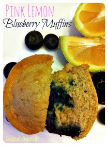 Pink Lemon Blueberry Muffins