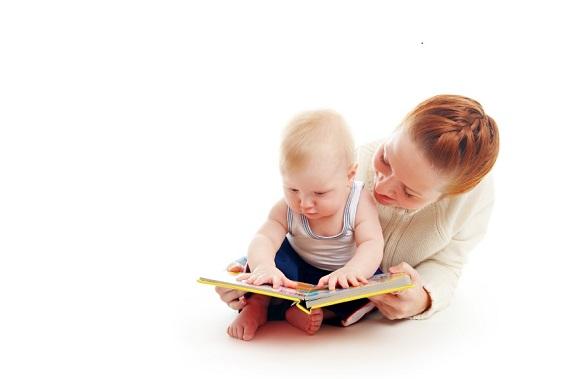 reading baby small