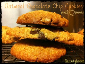 Oatmeal Chocolate Chip Cookies with Quinoa