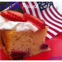 4th of july pound cake