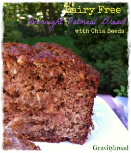 Dairy Free Overnight Oatmeal Bread with Chia