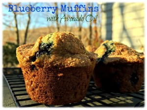 Rustic Blueberry Muffins with Avocado Oil