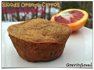 Bloody Orange and Carrot Yogurt Muffins
