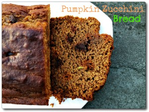 Low Fat Pumpkin Zucchini Bread