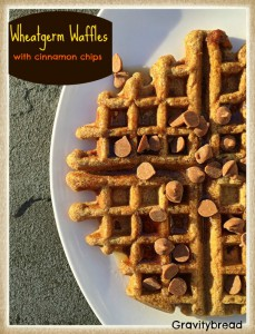 Wheat Germ Waffles with Cinnamon Chips