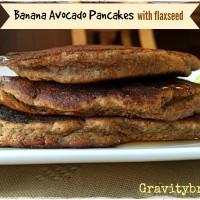 banana avocado pancakes