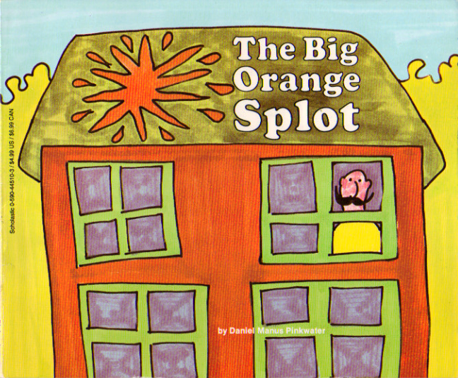 big orange splot