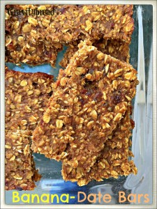 Vegan Banana Date Bars