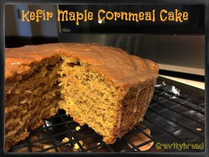 Kefir Maple Cornmeal Cake