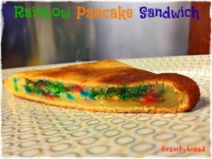 Rainbow Pancake Sandwich