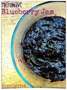 Microwave Blueberry Jam