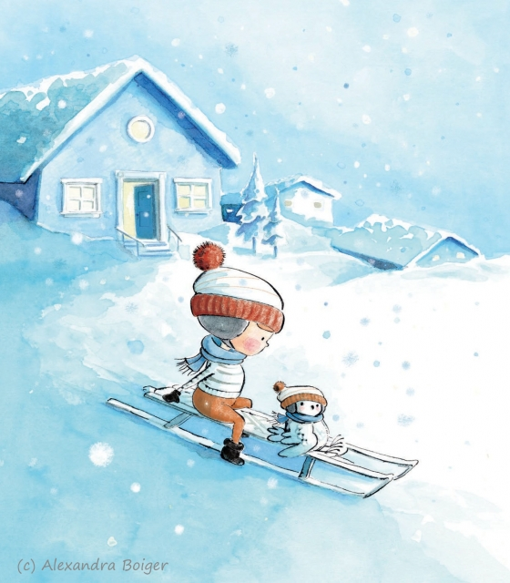 max and marla sledding