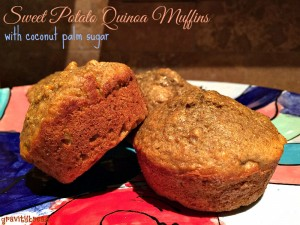 Sweet Potato Quinoa Muffins with Coconut Palm Sugar