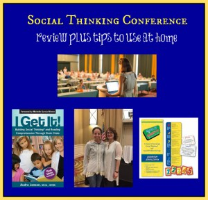 Social Thinking Conference…product reviews and tips to use at home