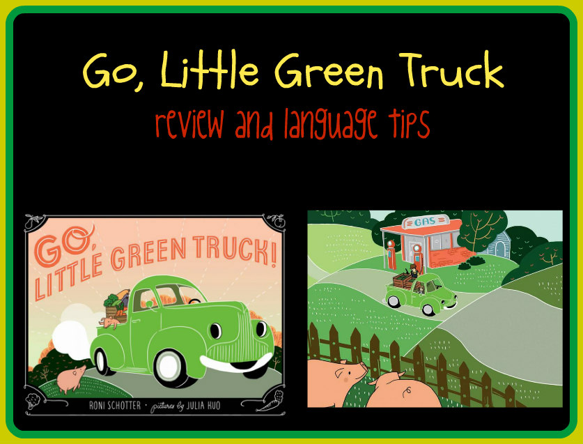 go little green truck collage