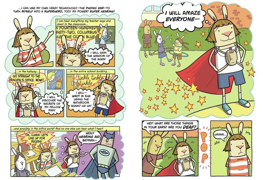 Pages from El Deafo by Cece Bell. Click here to enlarge.