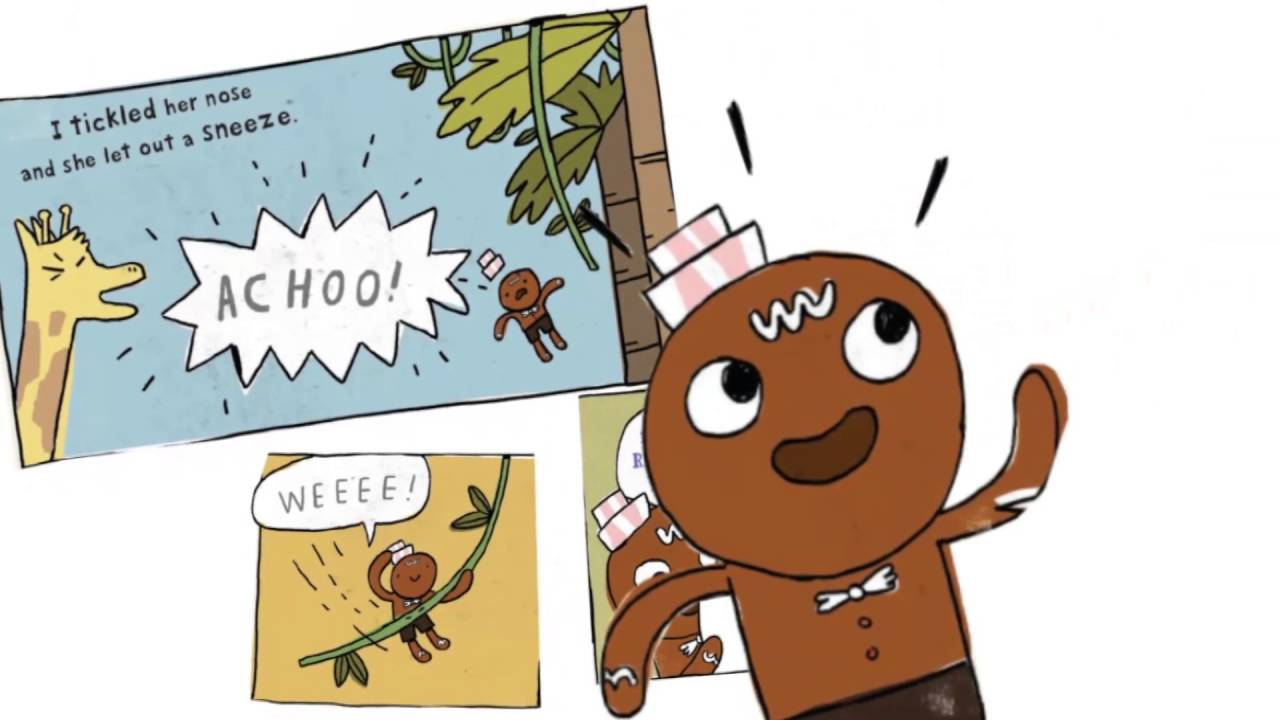 gingerbread man story map template - the gingerbread man loose at the zoo
